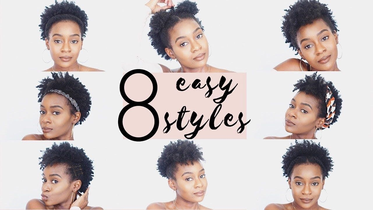 4c Natural Hairstyles 8 Easy Hairstyles For Short 4c Natural Hair Video Natural Hair Styles Easy 4c Natural Hair Short Natural Hair Styles
