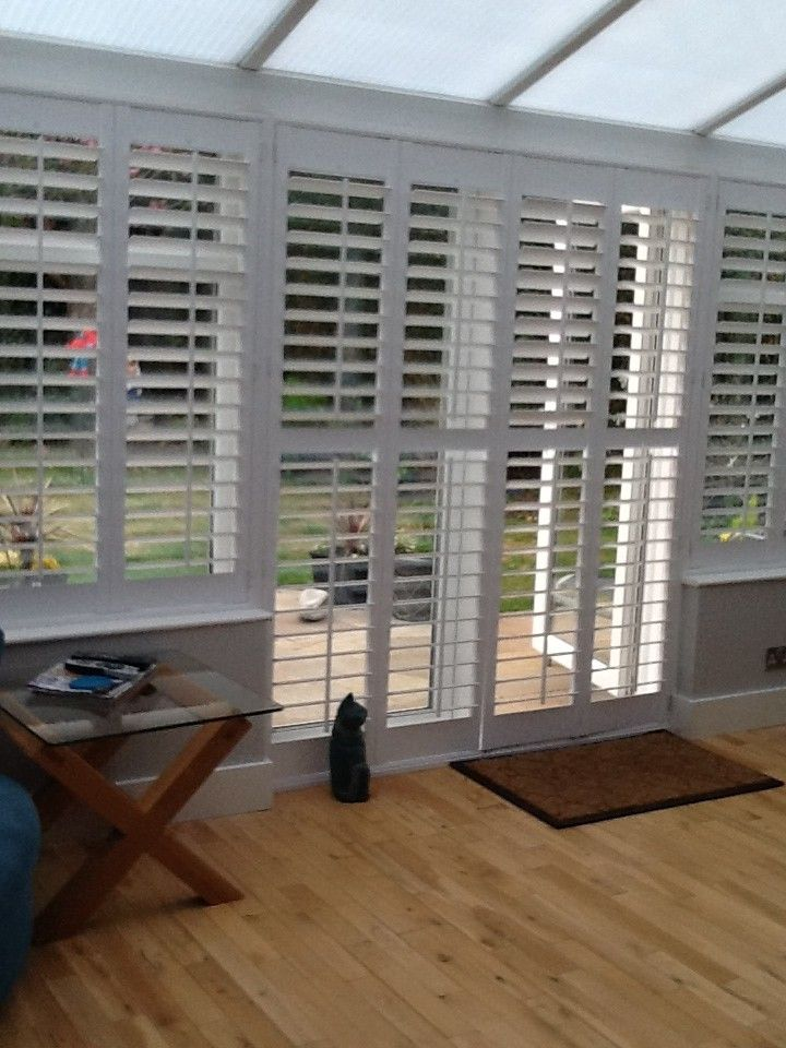 Conservatory shutters Conservatory dining room