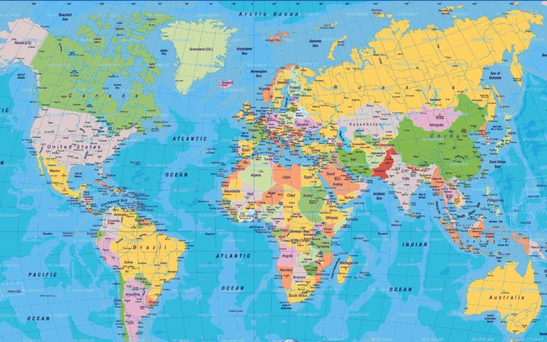 World Map With Country Names And Capitals Pdf Copy Wo ...
