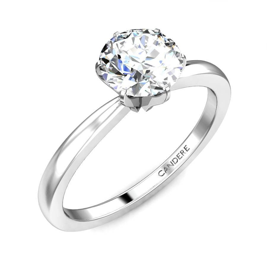 Buy platinum rings online at candere by kalyan jewellers