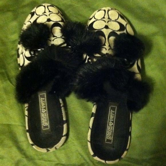 Coach poppy slippers