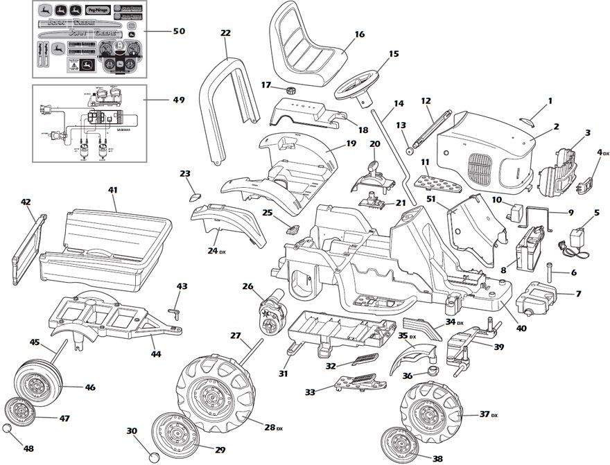 JOHN DEERE POWER PULL Replacement Parts | Parts | Pinterest ...