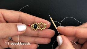 Emerald Beaded Bracelet. DIY Beaded Bracelet.How to make beaded Bracelet