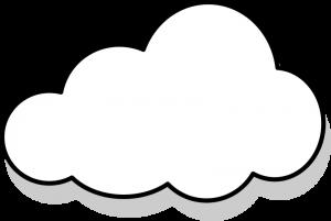 Cloud Clipart Black And White Clip Art Cloud Illustration Clouds