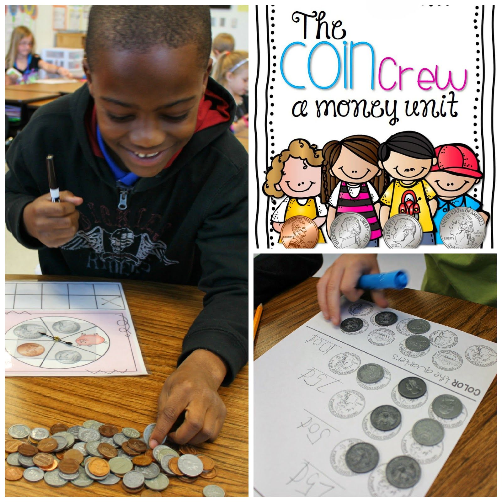 My Coin Crew Identify Coins Count Coins Beginning Money Unit Printables Centers Assessment