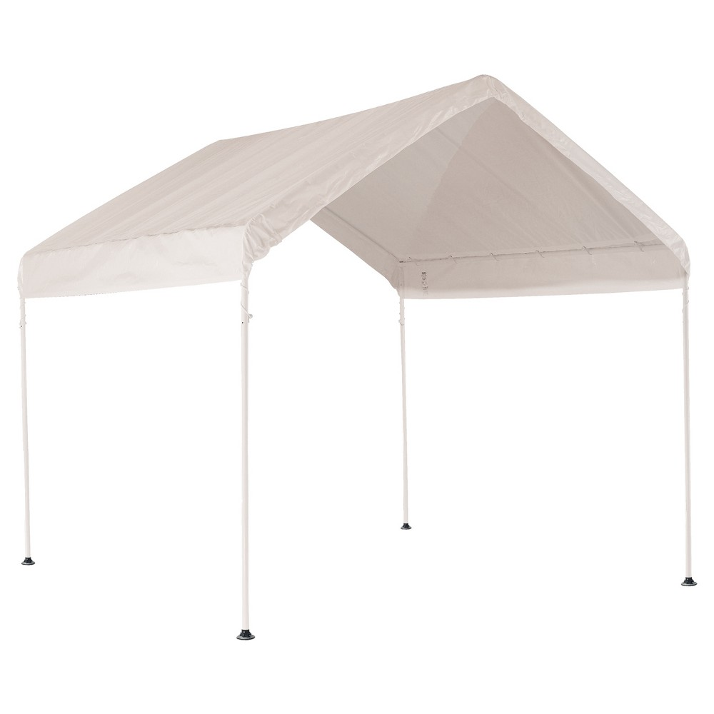 The 10 X 10 Shelterlogic Max Ap 4 Leg Canopy Is The Ideal Seasonal Shade Solution For Decks Patios Or Backyards Sets White Canopy 10x10 Canopy Canopy Frame