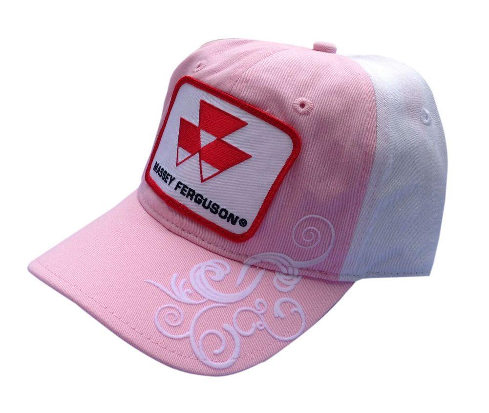 Massey Ferguson Logo Pink & White Cap