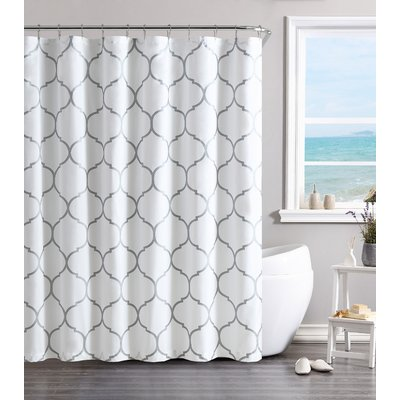 Willa Arlo Interiors Laelia Shower Curtain Color Silver Vinyl