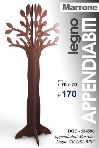 Appendiabiti Terra Legno.Albero Rami Appendiabiti Bianco Attaccapanni Da Terra Legno Marrone