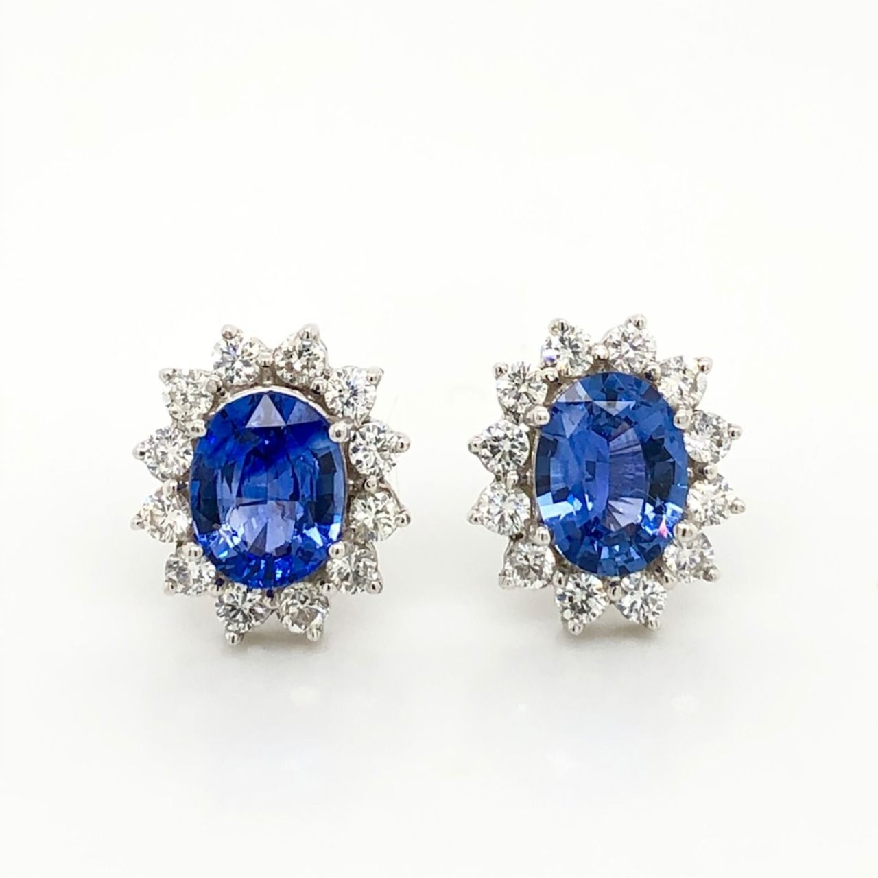 Sapphire And Diamond Studs Peter Norman Jewelers In 2020 Diamond Studs Diamond Sapphire