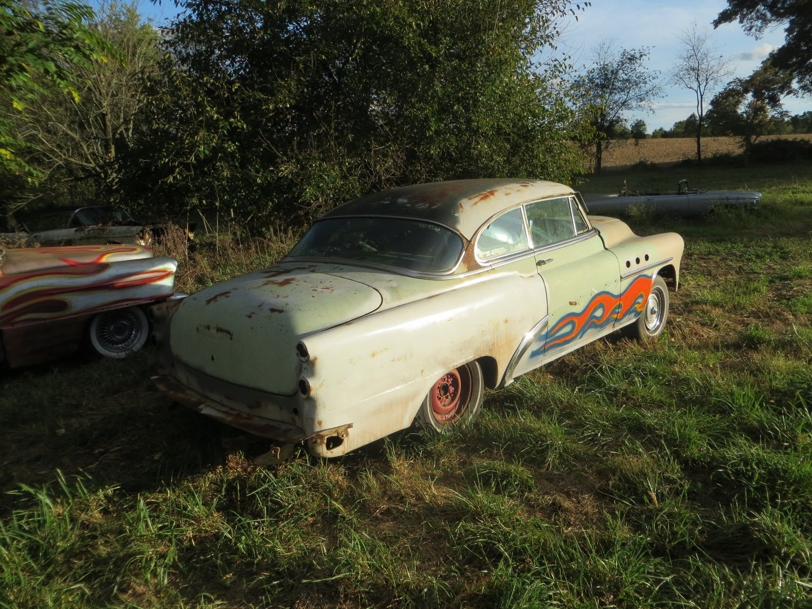 1953 Buick special all side swooping trim I have