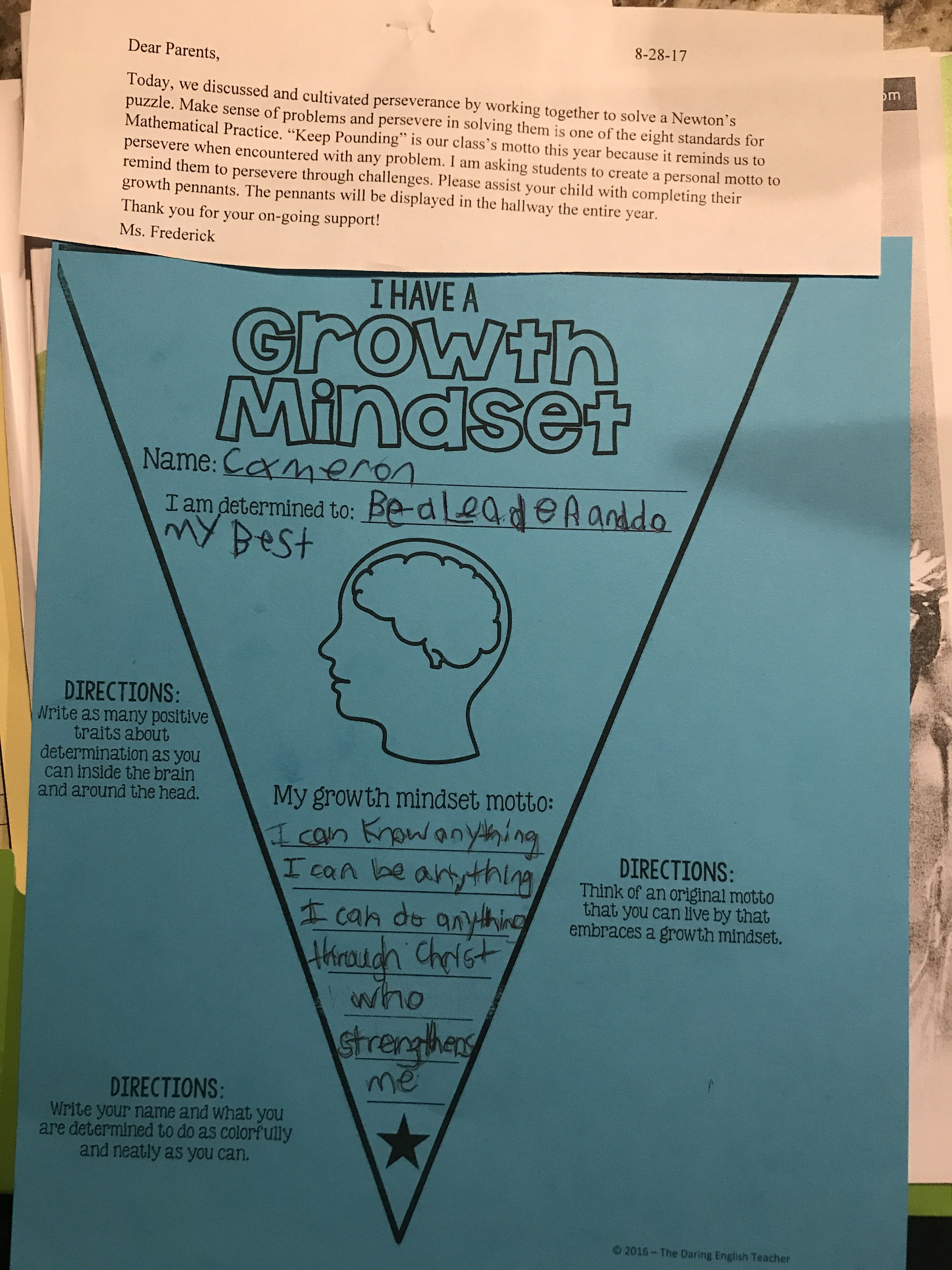 How Are You Encouraging Your Students To Have A Growth