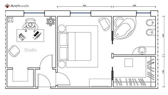 Letto zona notte dwg - sleeping area | architectura, casa, casetta ...