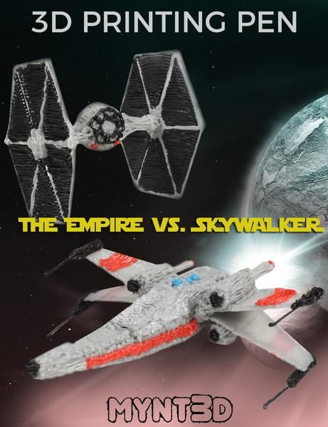 star wars 3d pen projects with free project template to make lightsabers empires tie wing fighter and luke skywalkers x wing plane may the force be