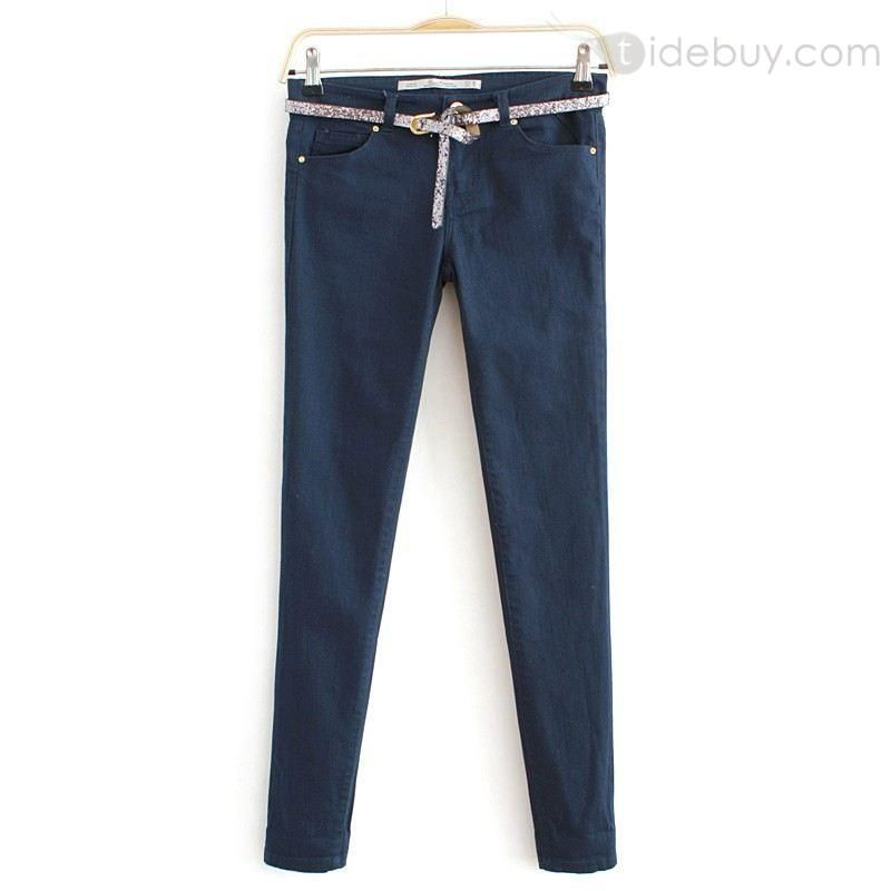 Soft New Arrival Pure Color Skinny Casual Pants