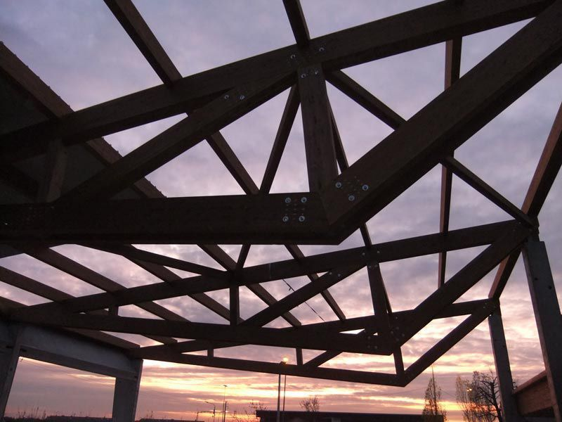 Estructura madera cercha de madera prefabricada comun - Estructuras de madera laminada ...