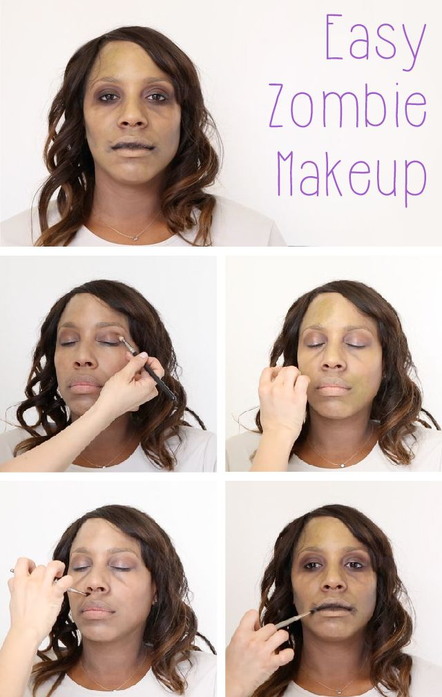 Classic, basic zombie makeup tutorial for the perfect Halloween costume look. Video and step