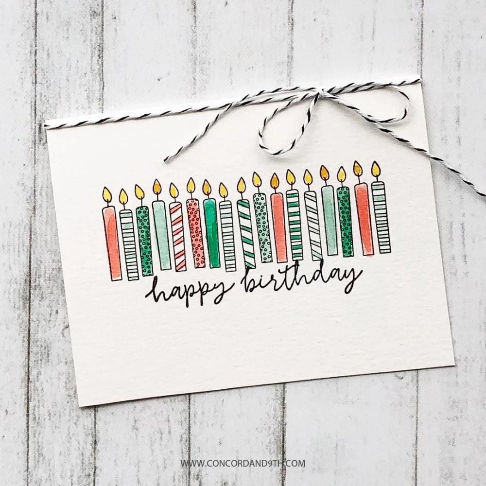 Birthday Stacks Stamp Set Birthday Card Drawing Birthday Cards For Friends Birthday Cards Diy