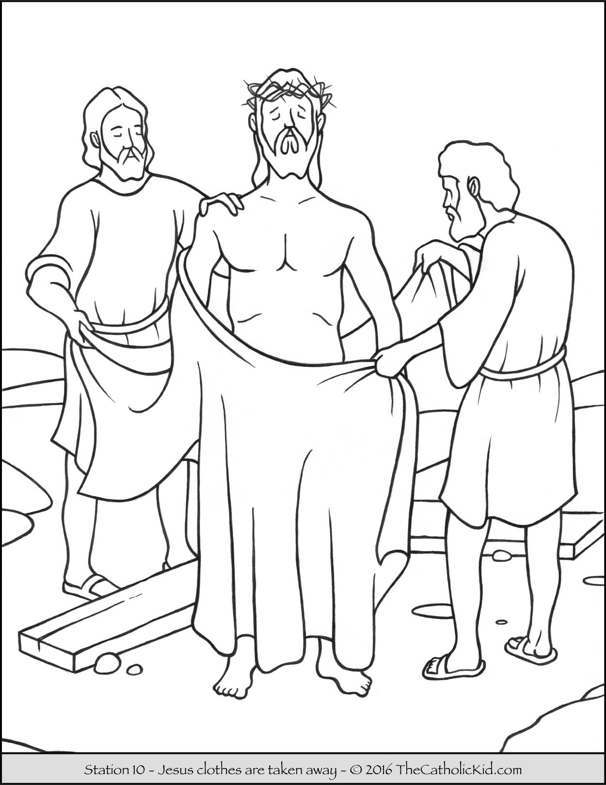 stations of the cross coloring pages 10 jesus clothes are taken