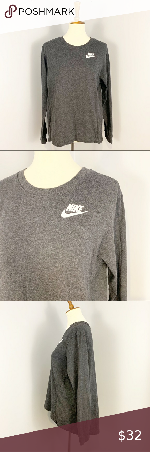 Nike Dark Gray Crewneck Sweatshirt Dark Gray Crewneck Sweatshirt From Nike Very Good Used Condition No Rips Or Sweatshirts Crew Neck Sweatshirt Clothes Design [ 1740 x 580 Pixel ]