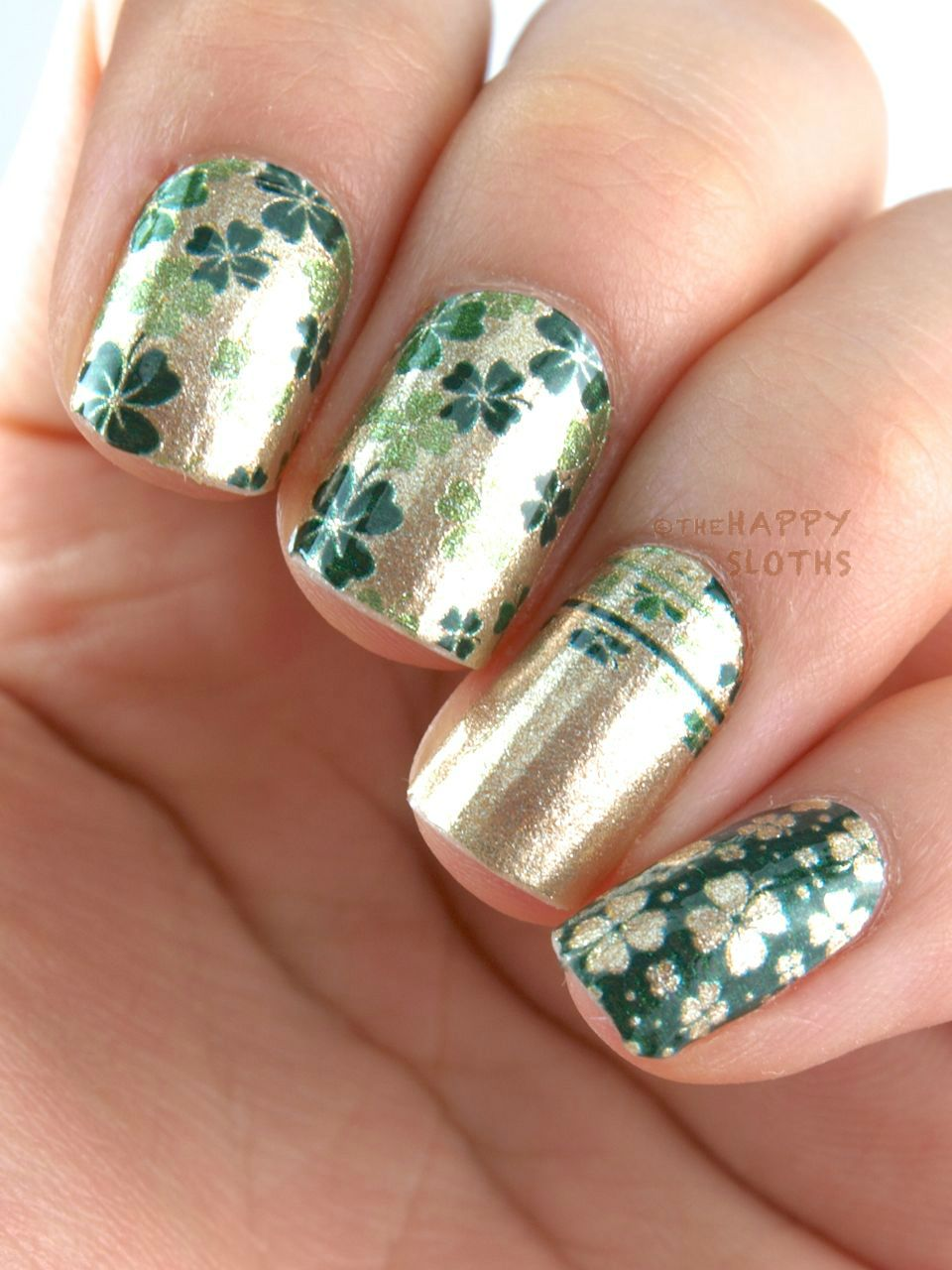 St Patrick\'s Day Nails featuring Incoco Emerald City Collection Nail ...
