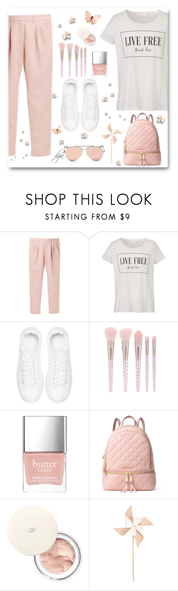 """""""Spring"""" by dgia ❤ liked on Polyvore featuring Uniqlo, Anine Bing, Forever 21, Butter London, MICHAEL Michael Kors, Hender Scheme and Alexander McQueen"""