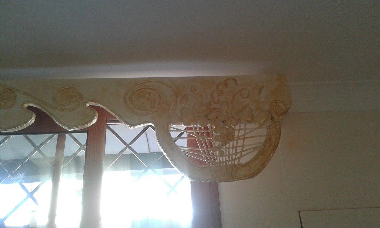 Bastoni In Legno Per Tende.Bastone Per Tenda Decorativo Con Pasta Di Legno E Foglia Oro