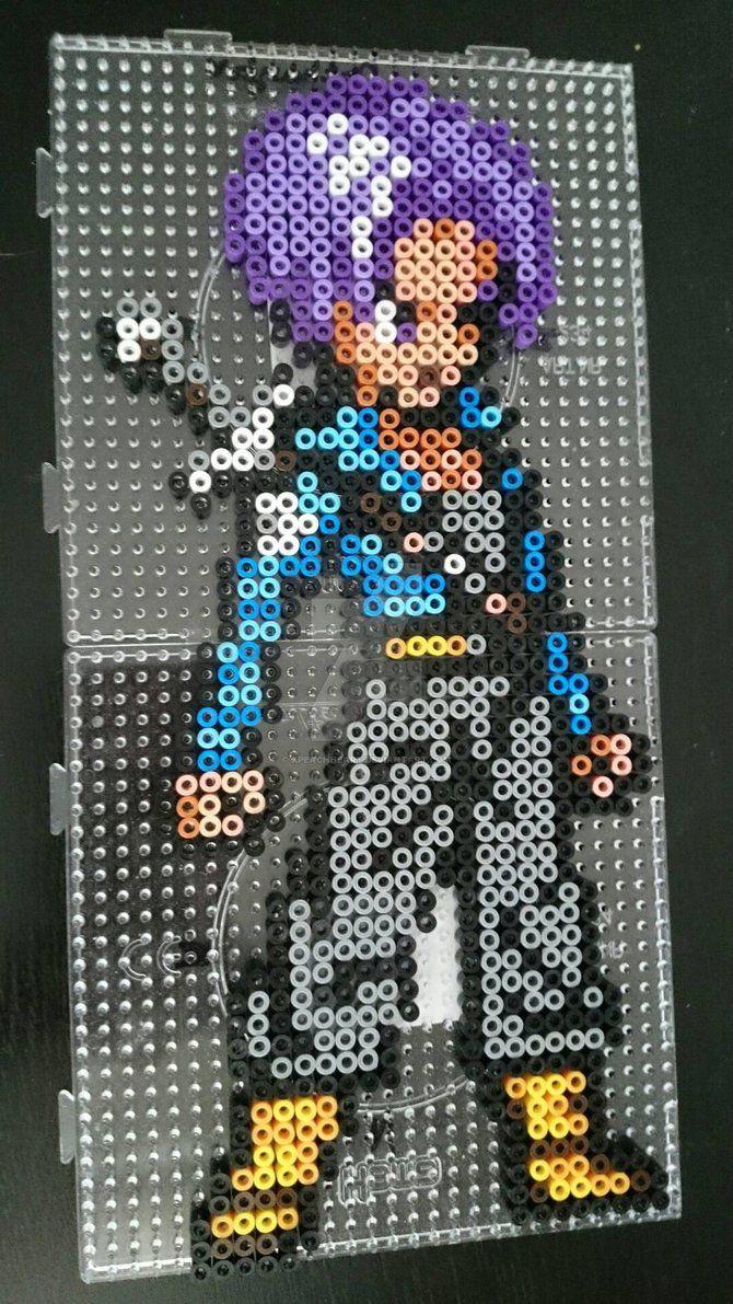Trunks - Dragon Ball Z perler beads by xPeachheart | Bead