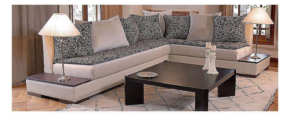 salon marocain tingis avec tissu maha salons marocains. Black Bedroom Furniture Sets. Home Design Ideas