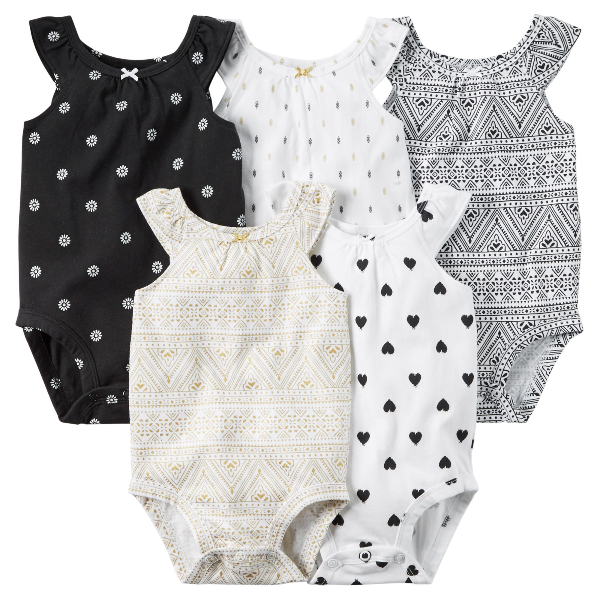 5 Pack Sleeveless Bodysuits