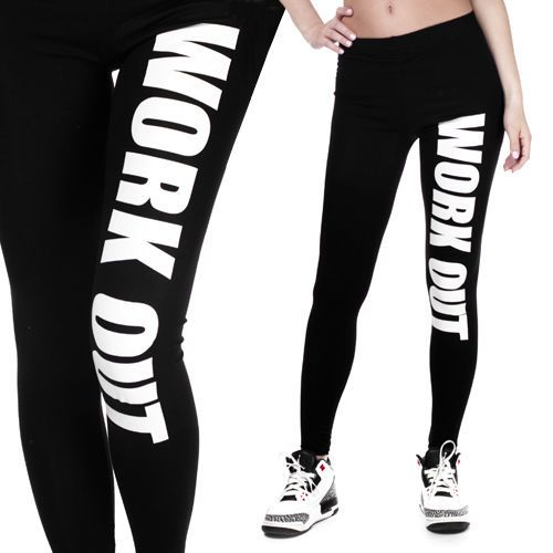 Work Out Sexy Womens Leggings Jeggings Womens Skinny Jeans WorkOut Black Stretch