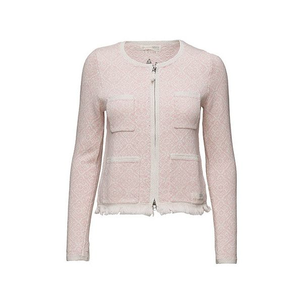 chillax cardigan via Polyvore featuring tops, cardigans, cardigan top, pink top and pink cardigan