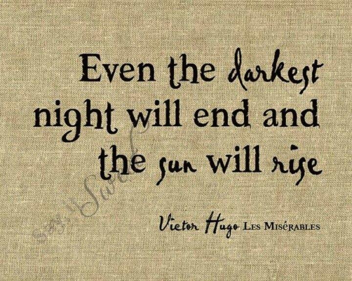 The sun will rise..