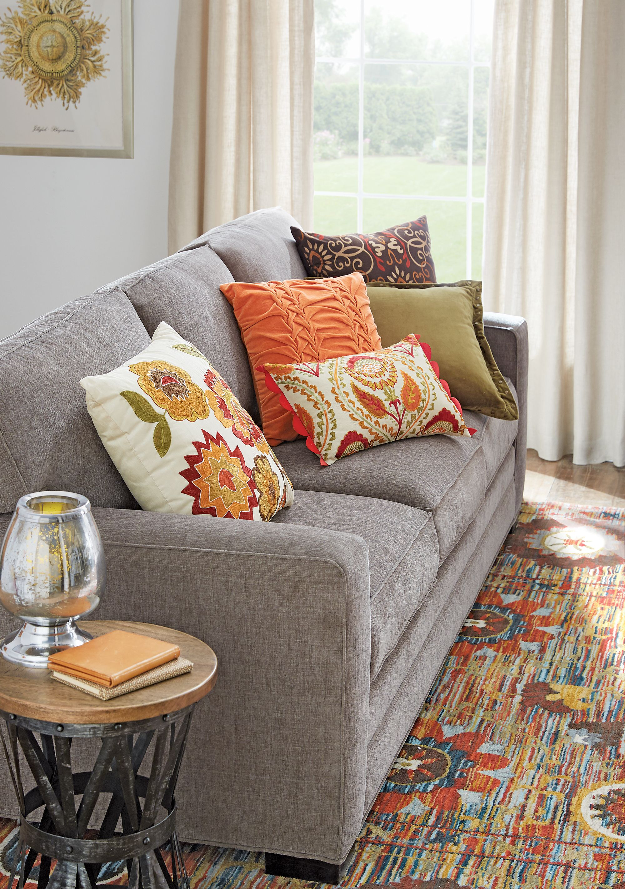 Bring Fall Colors Indoors With Throw Pillows That Remind You