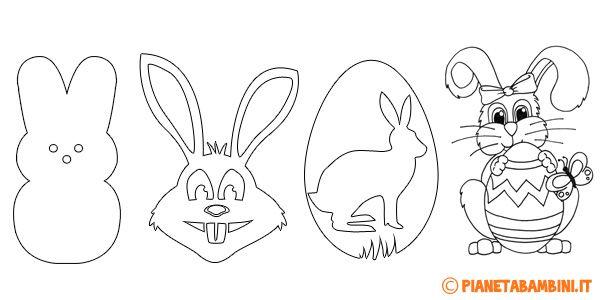 Sagome Di Coniglietti Pasquali Da Stampare Per Decorazioni Pasqua