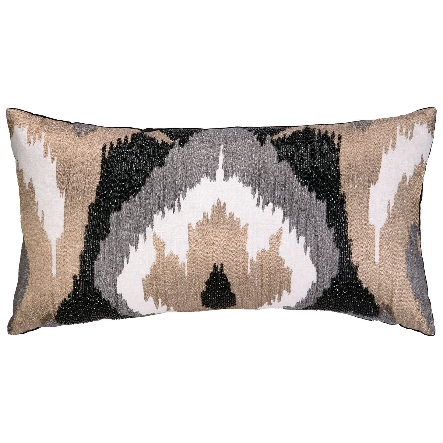 Nanette Lepore Villa Ikat Neutral Embroidered Pillow @Zinc_Door comes in other colors too