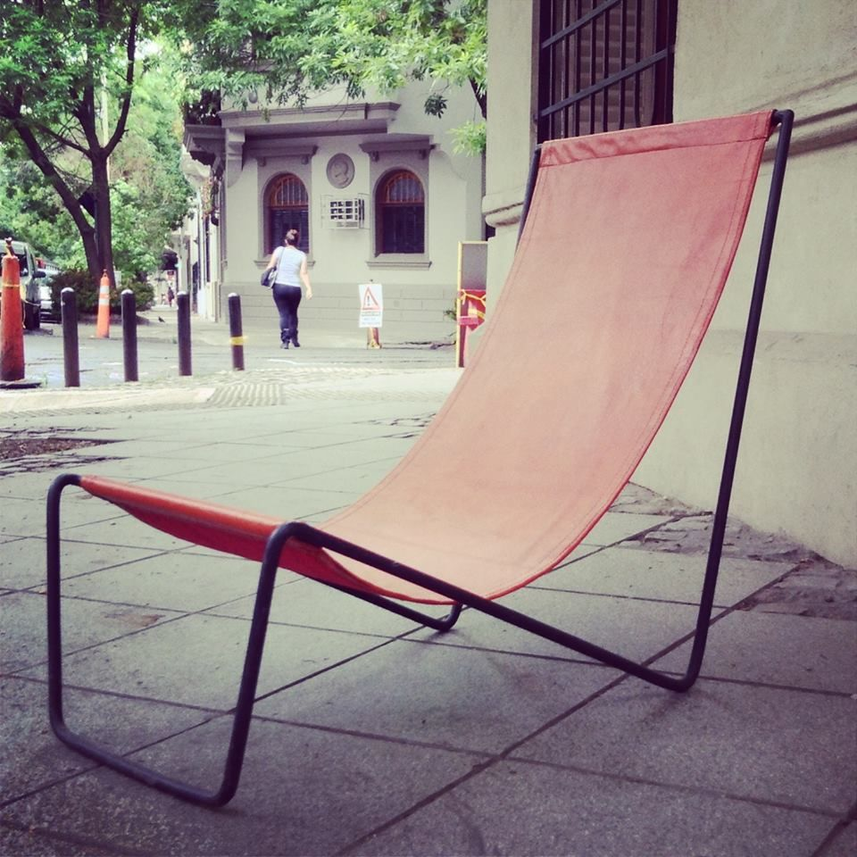 Photo of Indoor / outdoor lounge chair in iron and leather, divine and very comfortable, go to prob …