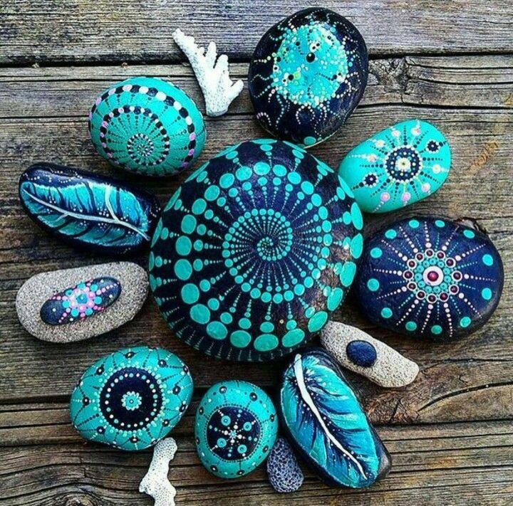 Rock painting | Rock Painting & Crafts | Pinterest | Steine, Steine ...