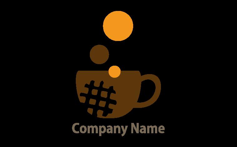 ロゴ販売 カフェ ほっと一息 カワイイ 休憩 カップ コーヒー ワッフル 喫茶店をイメージしたデザイン ロゴマーク販売のlogo市ストア 2020 ロゴデザイン ロゴ ロゴマーク