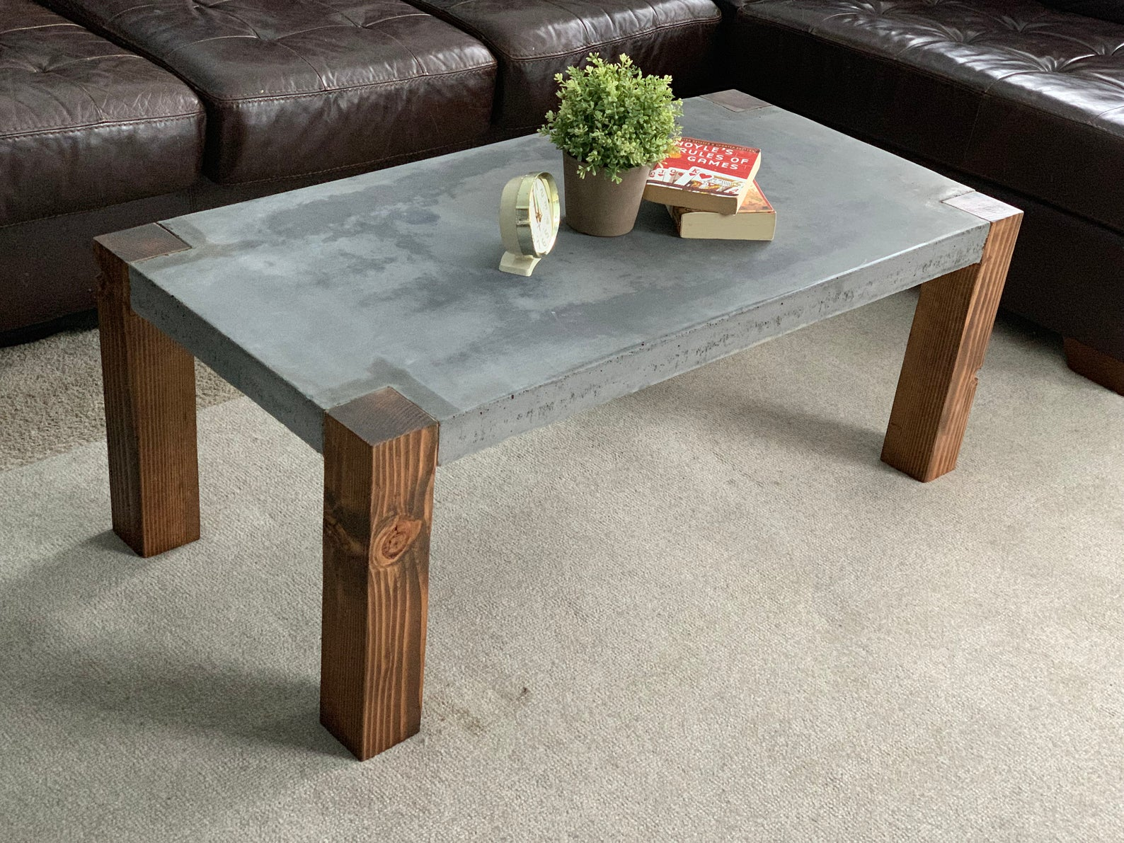 The Sacramento Etsy In 2021 Concrete Coffee Table Concrete Table Concrete Outdoor Table [ 1191 x 1588 Pixel ]