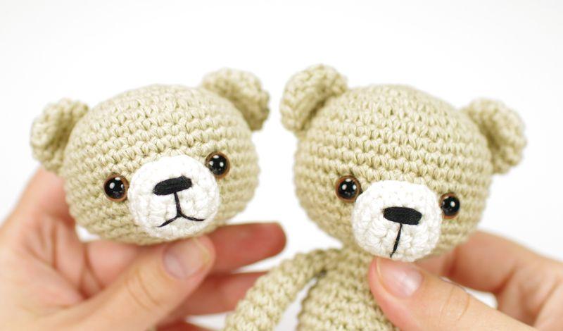 Amigurumi tutorial: El bordado oso de peluche, conejo y gato nariz ...