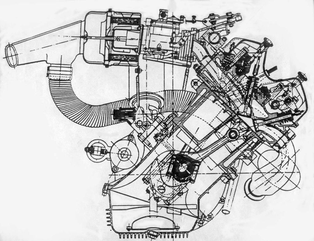 Lancia Fulvia 12°45' V4 engine | Blueprints V4 Engine Diagram