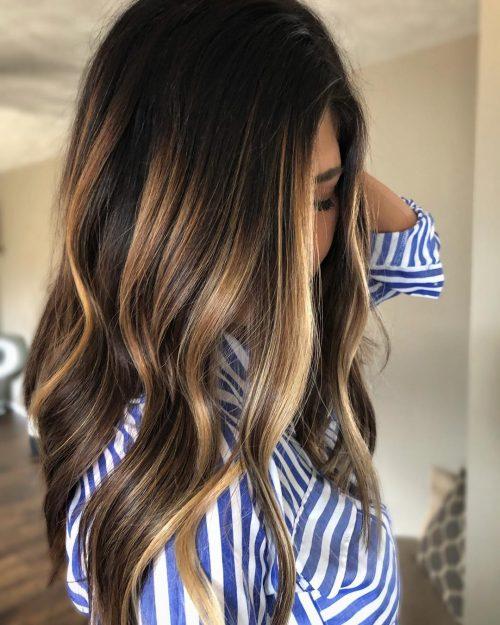 25 Best Dark Hair With Blonde Highlights For 2020 Blonde Highlights Blonde Peekaboo Highlights Hair