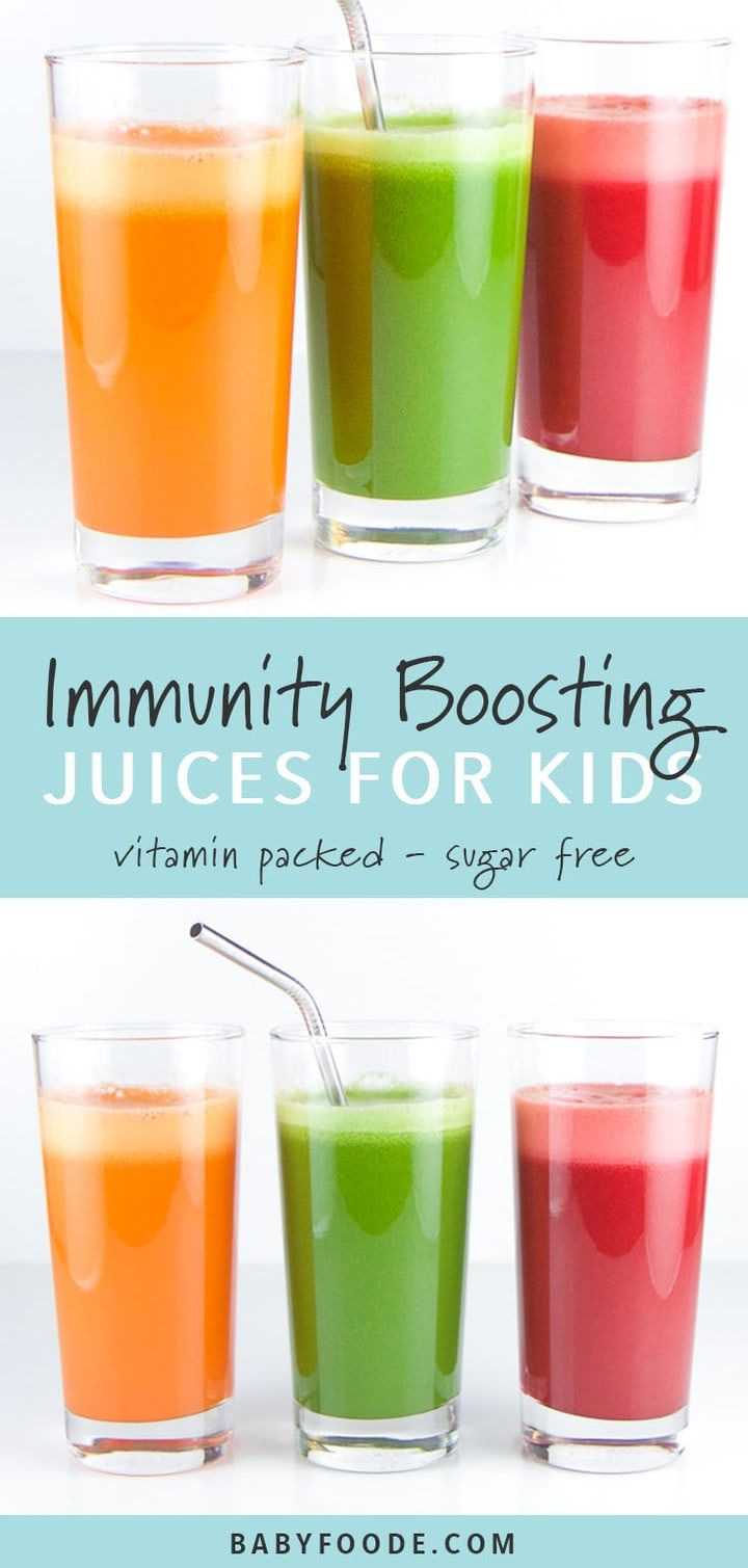3 Immunity Boosting Juices for Toddlers + Kids