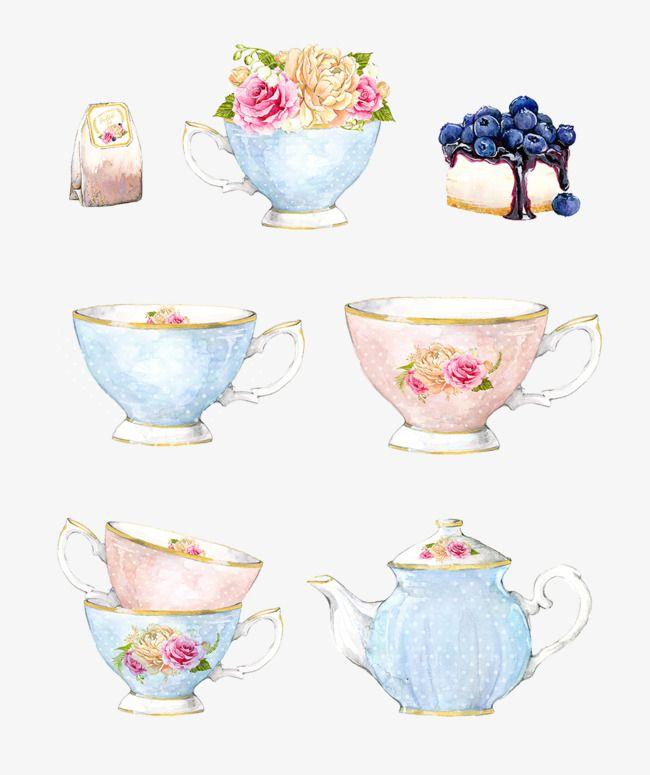 Vector Decorative Painted Watercolor Png Free Download Tea Art Tea Cup Drawing Watercolor