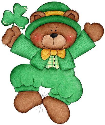 laurie furnell irish bear art laurie furnell pinterest rh pinterest co uk St. Patrick's Day Animals Rainbow St. Patrick's Day Clip Art