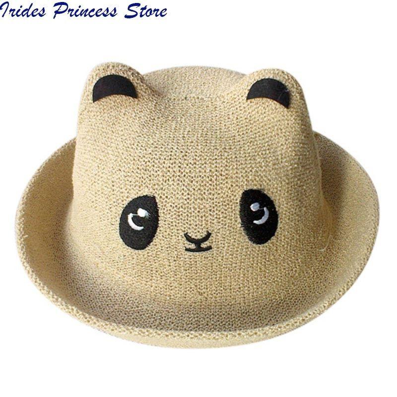 Fashion Ears Straw Hats Baby Hats For Girls Bucket Hat Boys Cap Children  Sun Summer Cap Kids Solid Beach Panama Caps Price  2.75   FREE Shipping   happy 2a5b5ec2d9be