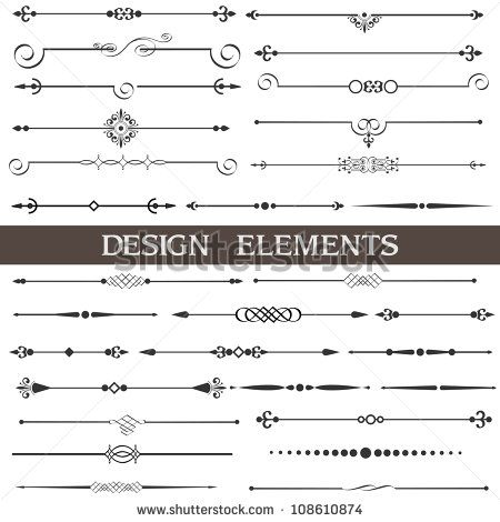 Discover millions of royalty-free photos, illustrations, and vectors in the Shutterstock collection. Thousands of new, high-quality images added every day.Stock Vector Illustration: Vector set of calligraphic design elements and page decor