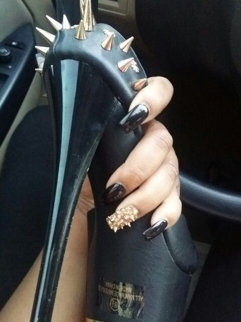 Spiked Nails for my 30th birthday by Jade Dang @ Evan Nails- Houston, Tx