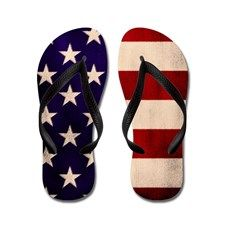 5d3dc7f80169 Stars and Stripes Artistic Flip Flops on CafePress.com